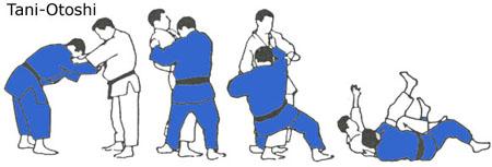 technieken o offerworpen o tani otoshi tani otoshi